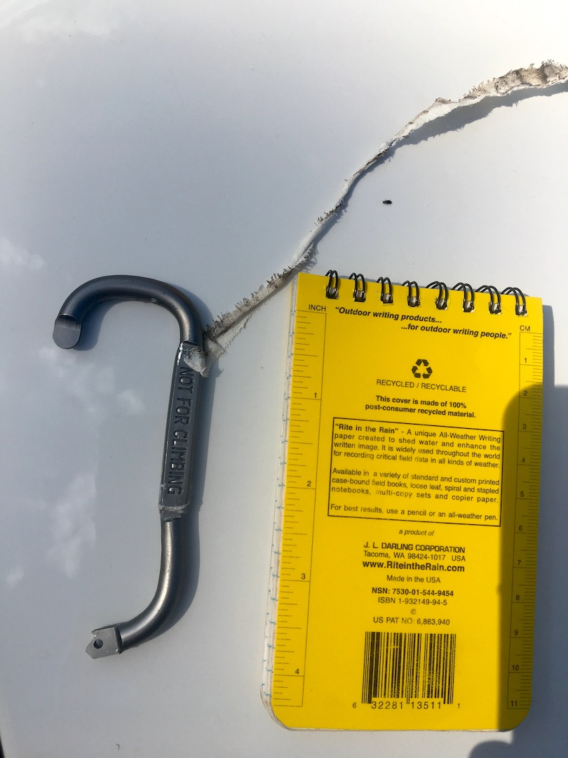 "The spine of this carabiner was clearly marked ""Not For Climbing,"" but the words were covered with tape. The carabiner broke during a climber's fall at the Pit near Flagstaff."