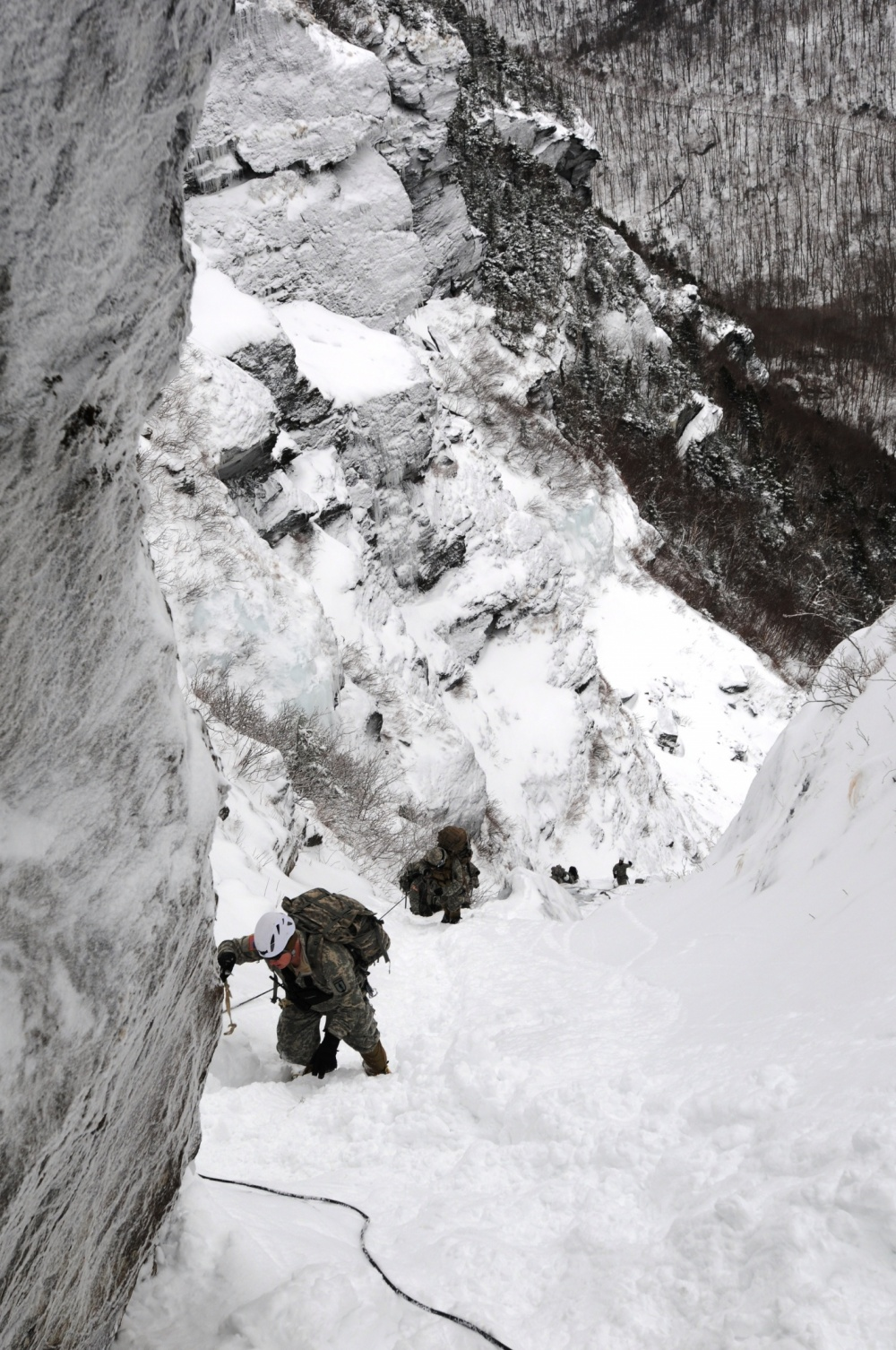 Army team training in Easy Gully during an earlier exercise in 2015.
